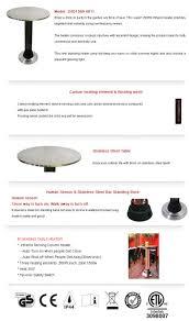 heater bar table