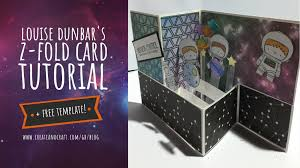 folding card template mission control to crafters the perfect space card project free