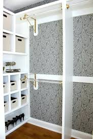 replace closet doors with curtains gorgeous farrow ball wallpaper and gold and acrylic rods are part