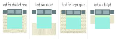 proper way to place a rug under bed rug designs