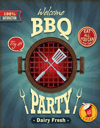 Bbq Poster Welcome Bbq Party Large Metal Tin Sign Poster Vintage Style Plaque