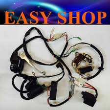 wiring loom harness cdi magneto start switch brake lever coil yamaha Wiring Harness Diagram at Pw50 Wiring Harness