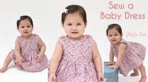 Baby Dress Patterns Awesome How To Sew A Baby Dress Free Pattern YouTube