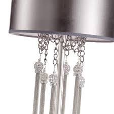 silver swarovski crystal table lamp juliettes interiors