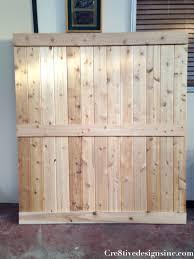 Barn Door Plans Diy Diy Barn Door Headboard Cre8tive Designs Inc