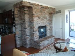 cultured stone fireplace interior