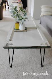 diy coffee table with hairpin legs from a salvaged shutter how adorable you
