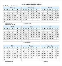Payroll Calendar Template Simple Biweekly Pay Calendar Template Printable Free Download Salary Slip
