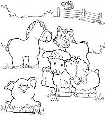 farm animals coloring pages for kids printable. New Printable Lots Of Animal Coloring Pages Gallery Farm Throughout Animals For Kids