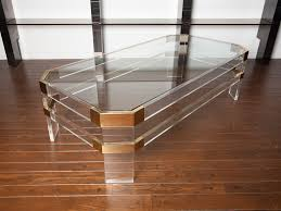 Acrylic coffee table cheap Table Ikea Image Of Brass Lucite Coffee Table Canvas Grey Lucite Coffee Table For Your Living Room New Home Design