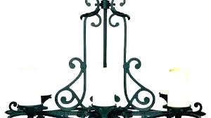 wrought iron candle chan non electric chandelier hoist n home black