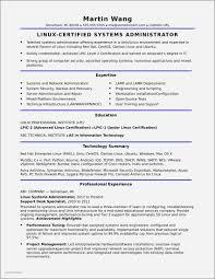 Resume Templates Ubuntu Unique System Administrator Resume Template