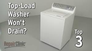 Washer Not Draining Or Spinning Top Load Washer Wont Drain Washing Machine Troubleshooting