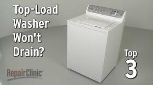 top load washer won t drain washing machine troubleshooting