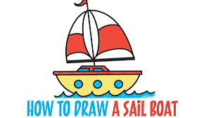 learn how to draw a cartoon sailboat easy step by step drawing tutorial for kids beginners2