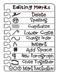 Printable Editing Marks Chart Editing Marks For Primary Clip Art Library
