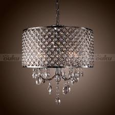 modern 4 light pendant lights with crystal drops in round
