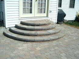 how to build paver steps steps stairs patio steps design ideas how to build steps on