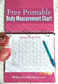 T Tapp Measurement Chart Free Printable Body Measurement Chart Body Measurement Tracker