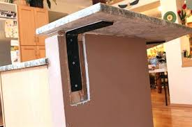 kitchen island support brackets awesome knee wall countertop