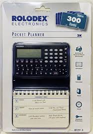 Rolodex 300 Item Electronic Personal Pocket Planner 1997