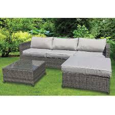 avignon 3 seater rattan garden lounger