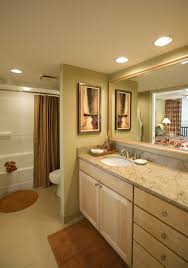 recessed light above bathtub ideas