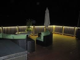 subdued lighting. Deck Railing Lighting Ideas I Really Want This Sort Of Subdued On The At