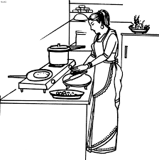 Small Picture Mother cooking coloring pages