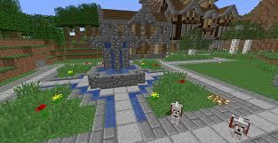 Minecraft Water Fountain Designs A Fountain I Built Using 1 13 Water Mechanics Minecraft