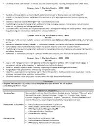 Resume Template Executive Assistant Executive Assistant Resume Example And 5 Tips To Writing One