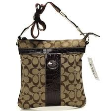 Coach Legacy Swingpack In Signature Medium Camel Crossbody BagsB