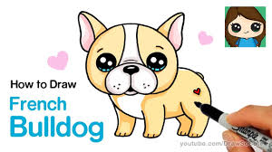 bulldog puppy drawing. Beautiful Puppy How To Draw A French Bulldog Easy  Cartoon Puppy With Drawing R