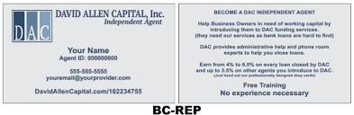 Business Cards David Allen Capital