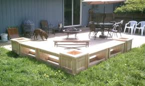 outdoor wood patio ideas. Patio Wood Planters Bench With Cedarwooden Planter Boxes Diy Large Outdoor On Casters Ideas