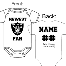 Gerber 0 3 Month Onesies Size Chart Details About Personalized Oakland Raiders Football Fan Baby Gerber Onesie Optional Socks Gift