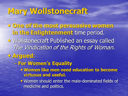 enlightenment chapter section age of reason the influence of  11 mary wollstonecraft