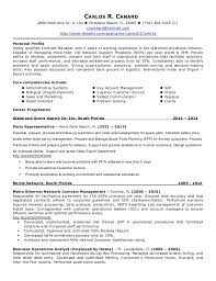 Sample Contract Specialist Resume