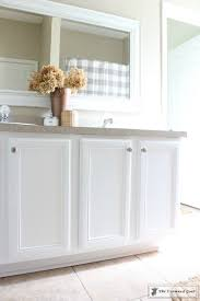 painting a bathroom cabinet with general finishes milk paint the crowned goat
