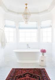 basketweave tile bathroom. Marble Basketweave Tile Persian Rug In The Bathroom And Chandelier Over Tub A