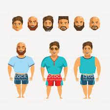 男キャラクター作成を設定します顔髭およびひげの髪のスタイル感情男性人