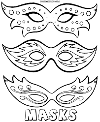 Small Picture Mask coloring pages Coloring pages to download and print