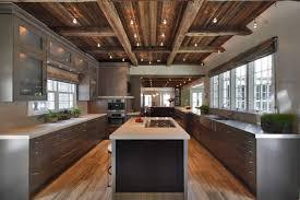 kitchen led track lighting. Narrow Rustic Kitchen With LED Track Lighting Led H