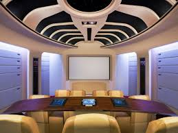 basement theater ideas. Basement Home Theater Ideas Built In Wooden Shelves Modern Tv Wall Unit Nice Lamp Light Orange Painting Color Without Furniture Hidden