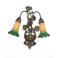lily art nouveau style victorian wall sconce