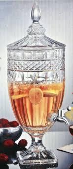 crystal beverage dispenser crystal glass