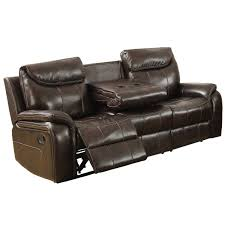 courtney leather aire reclining sofa in dark brown
