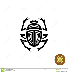 знак вектора логотипа татуировки скарабея иллюстрация вектора