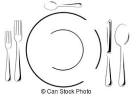 dinner table clipart black and white. dinner table clipart black and white