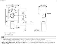 low height wall hung wc support frame